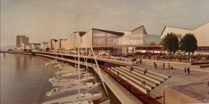 A Drawing by the North Quay Project's Design Team of the Proposed Marina