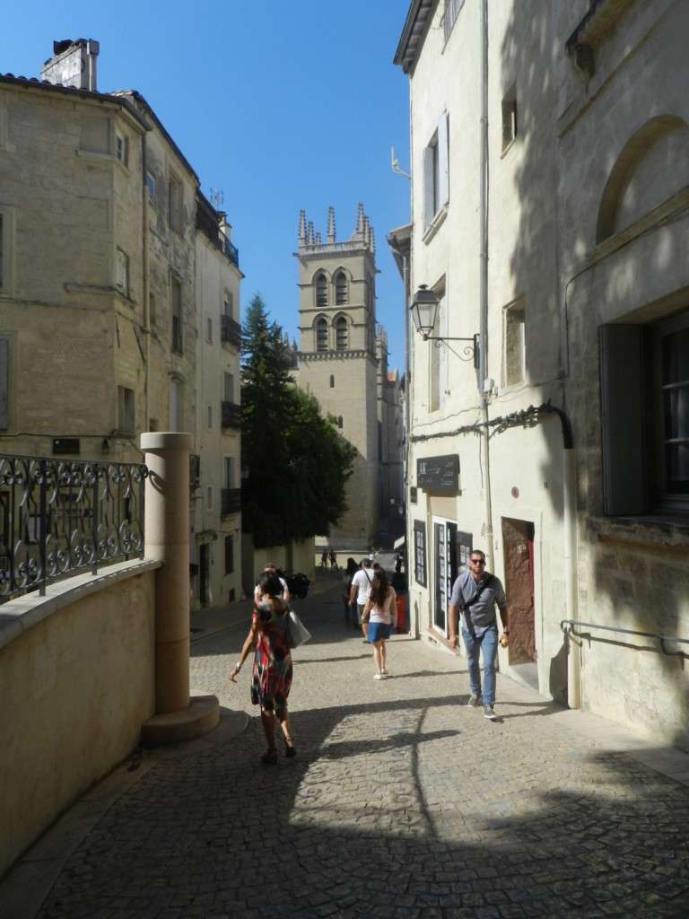The old town in Montpellier