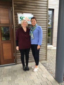 Solas Centre Manager Tracy McDaid and Collette Quinlan, Client Services and member of the original Capital Development Committee.