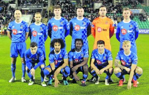 The Waterford FC team that took on Shamrock Rovers at The Tallaght Stadium last Friday night.