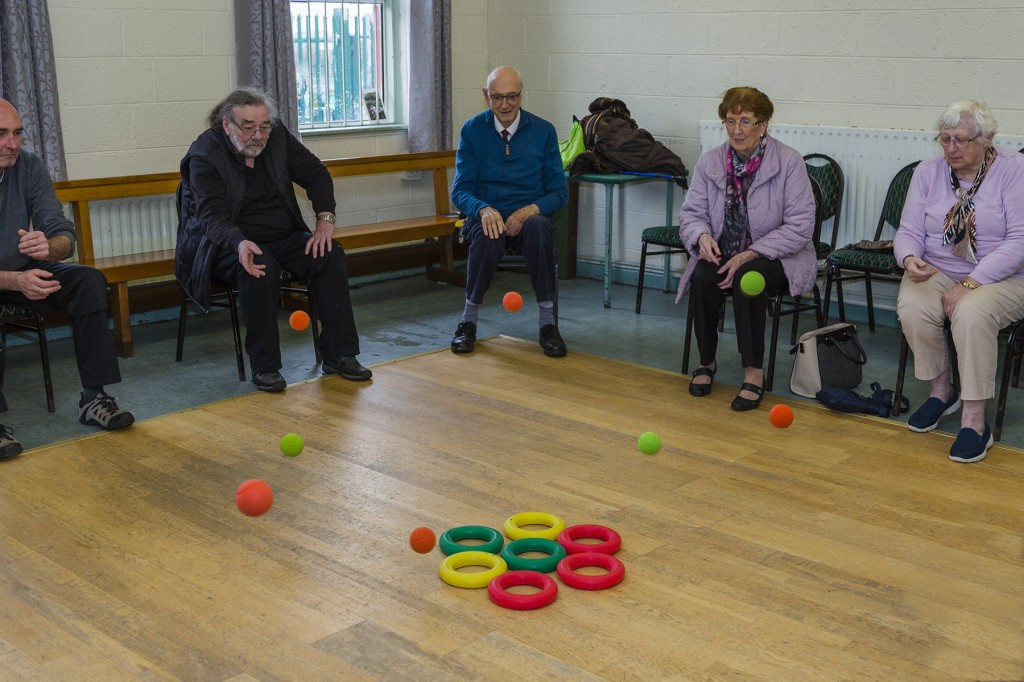 Members of the Waterford COPD Support Group exercising during a recent meeting.