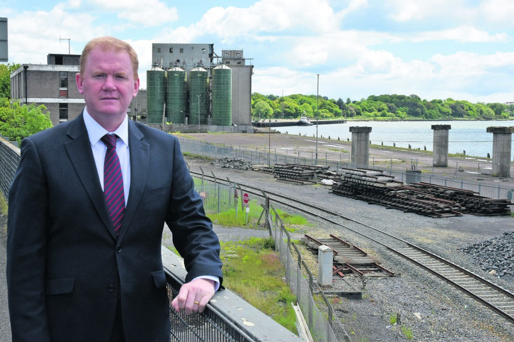 Senator Paudie Coffey pictured at the North Quay prior to the demolition works which cleared the site.