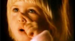 Holly Stapley as the little Christmas Kelloggs girl in 1991.
