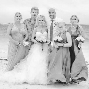 The Stapley family photographed at the wedding of Holly in 2013. Her sister, Alexandra, is on the extreme right.