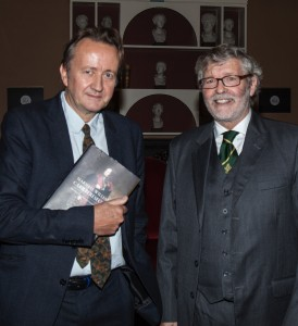 At the launch of the biography of Marshal William Carr Beresford were the author, Marcus de la Poer Beresford (right) and the distinguished Waterford-born and Newtown School educated historian, Professor Roy Foster.