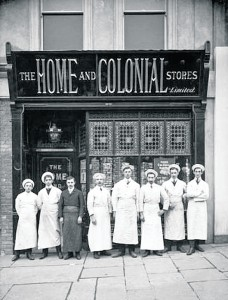 A Group of Workers at the Home & Colonial Store on Borad Street, Waterford May 10th 1910