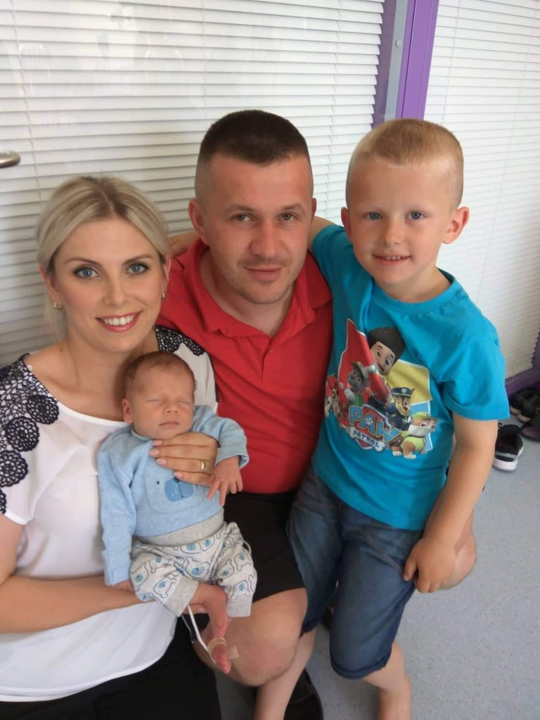 A happy family: the Waszkiewicz family are reunited in Tramore after a harrowing time.