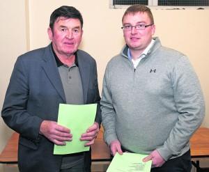 John Murphy (Eastern Board Treasurer) and Owen Sauvage (County Board Delegate ).