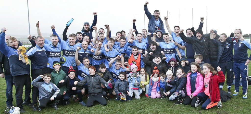 Kilmacthomas's players, mentors and supporters celebrating their win over Dungarvan in the JJ Kavanagh & Sons Junior B Hurling Championship Final replay in Fraher Field on Saturday last. | Photos: Sean Byrne//Deise Sport