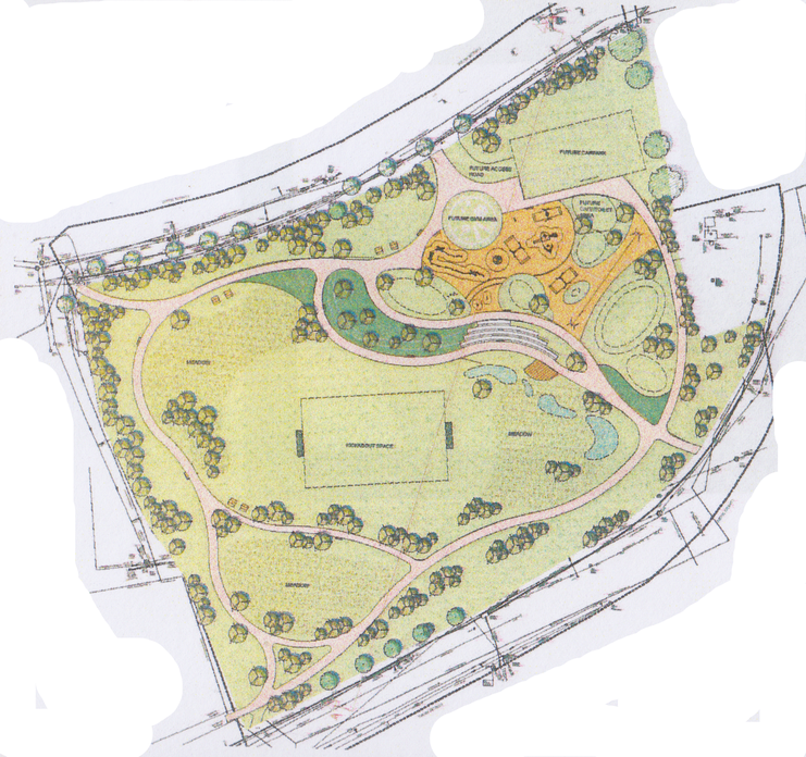 A preliminary layout plan for the Ferrybank Neighbourhood Park, which was presented to Kilkenny County Council by Cunnane Stratton Reynolds (of Cork) last month.
