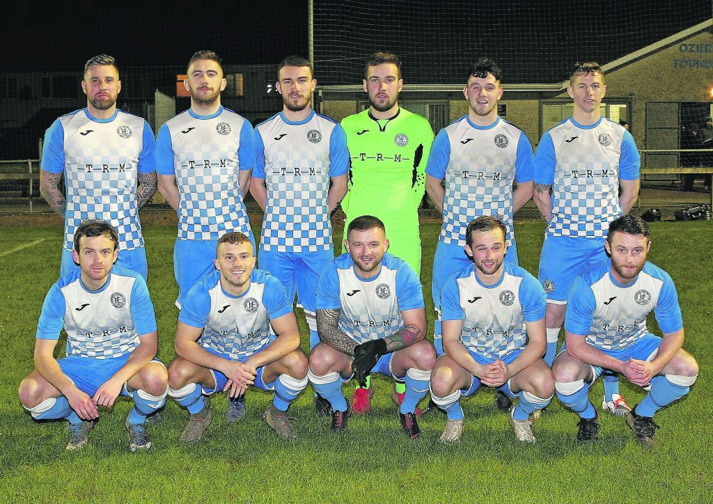 The Hibs team that played Waterford FC last Tuesday night at Ozier Park.