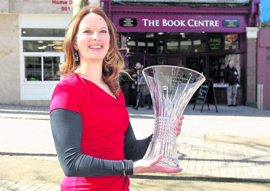 Maeve Ryan of the Book Centre, last year's overall Waterford Business Award winner