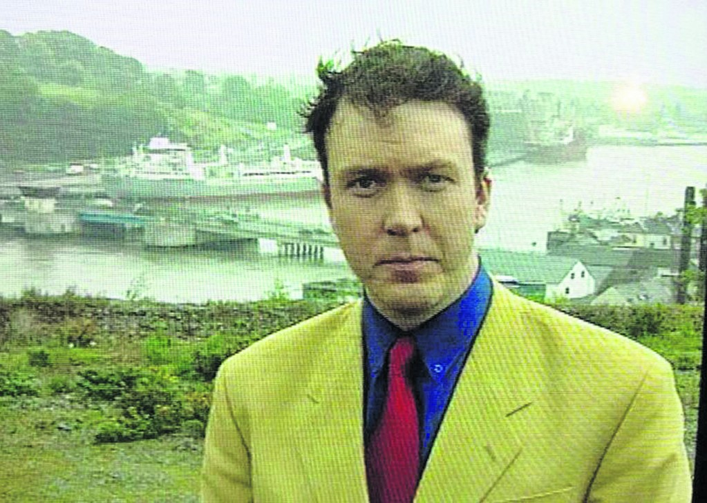 Early days: Damien Tiernan reporting from Bilberry for RTE.