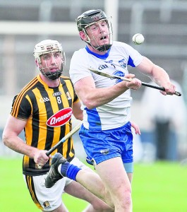 Deise captain Kevin Moran beats Kilkenny's Michael Fennelly to the ball during the 2017 epic All-Ireland Hurling Qualifier which Waterford won by 4-23 to 2-22 at Semple Stadium.   Photo: Sean Byrne