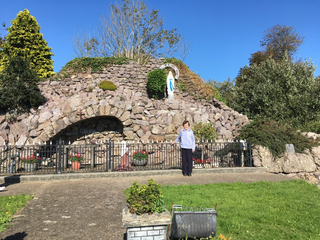 Mary O'Carroll (92) pictured at the Ferrybank Grotto which she has lovingly tended to for many years.