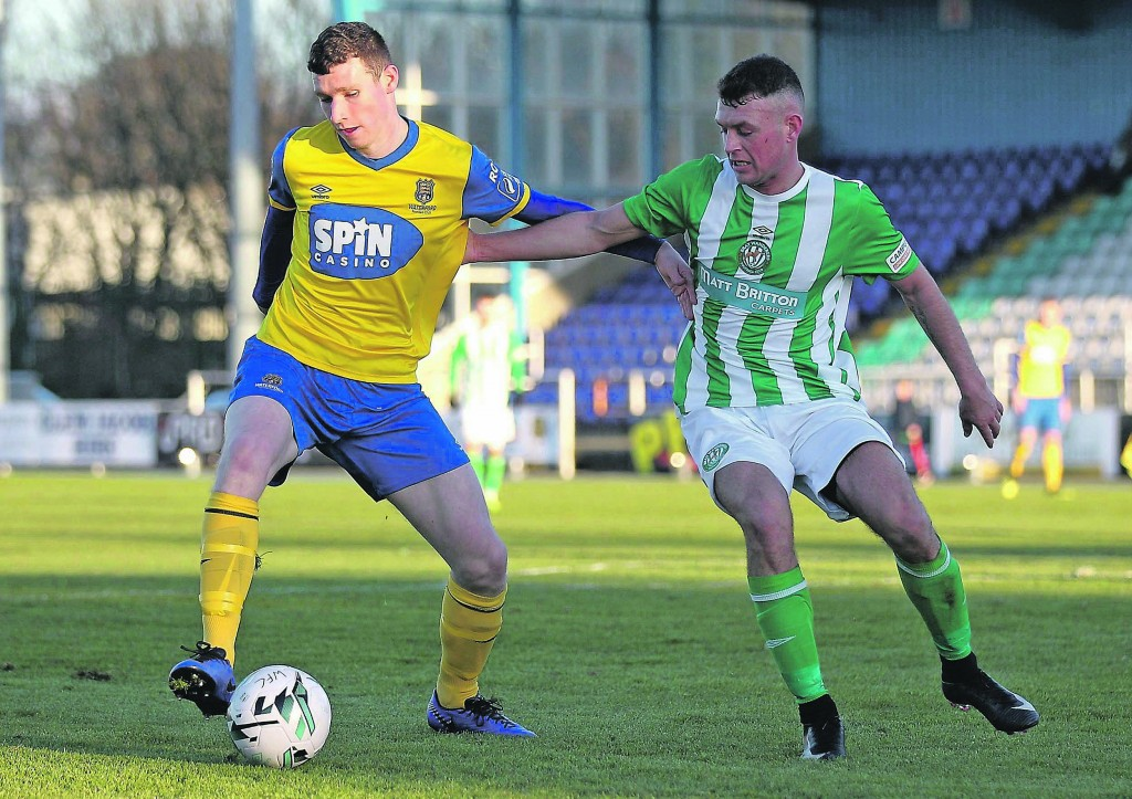 Waterford FC's Dean Walsh in control at midfield. Photos by Noel Browne