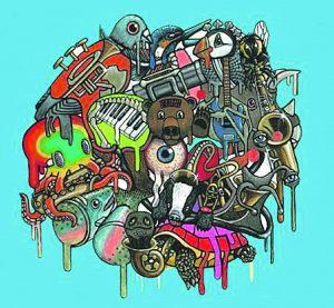 Quangodelic's album cover art, the creation of Cork graffiti artist Lorraine McDonnell.