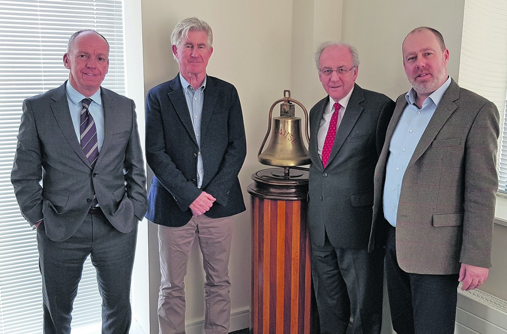 Pictured from left: Des Whelan (Chairman, Port of Waterford), directors Derry O'Sullivan and William Johnston and Frank Ronan (CEO, Port of Waterford).