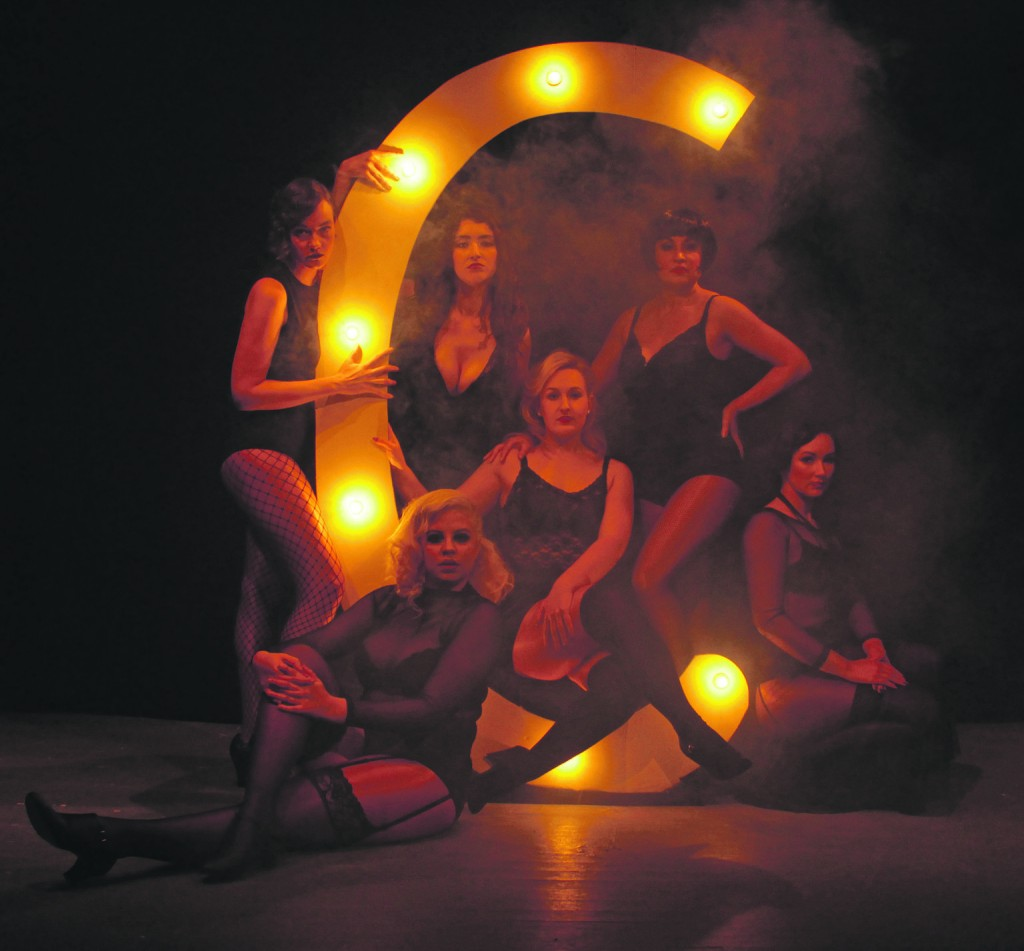 "The Six Merry Murderesses of the Cook County Jail, whose ""Cell Block Tango"" will light up the Dick Meany Auditorium between March 2nd and March 9th."