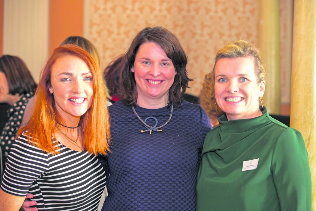 Enjoying last year's International Women's Day event during Local Enterprise Week were Catherine Keighery Redlane Boutique, Brid Kirby Waterford Local Enterprise Office and Irene Queally Pip & Pear. Photos: Patrick Browne.