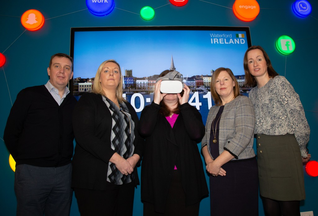 Pictured from left: Aidan Shine (South East BIC), Laura O'Keeffe (Bank of Ireland), Elaine Fennelly (Crystal Valley Tech), Pamela Pim (Bank of Ireland) and Rosemary Ward (South East BIC).  | Photo: John Power