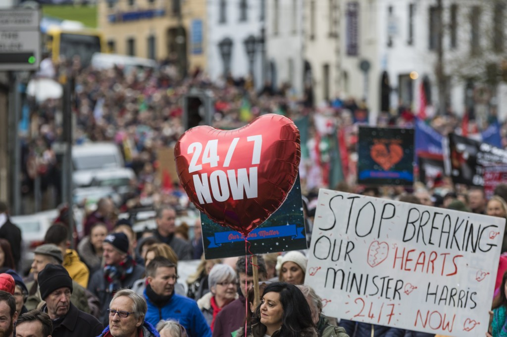Regional cardiac campaigners are set to march in Dublin on Saturday, April 13th.  | Photos: Mick Wall