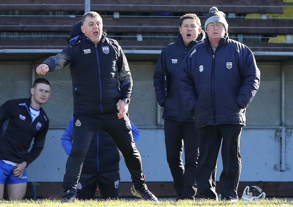 An animated Waterford manager Paraic Fanning as last Sunday's game entered its final seconds.									| Photos: Noel Browne