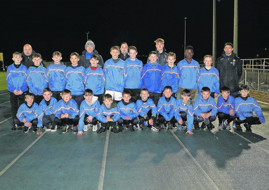 The Waterford Schoolboy Football League U-12 squad were the ball kids on the night.