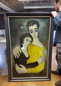 'Les Retrovés', the Dany Lartigue painting, which was recently examined and sent out for conservation by Waterford City & County Council