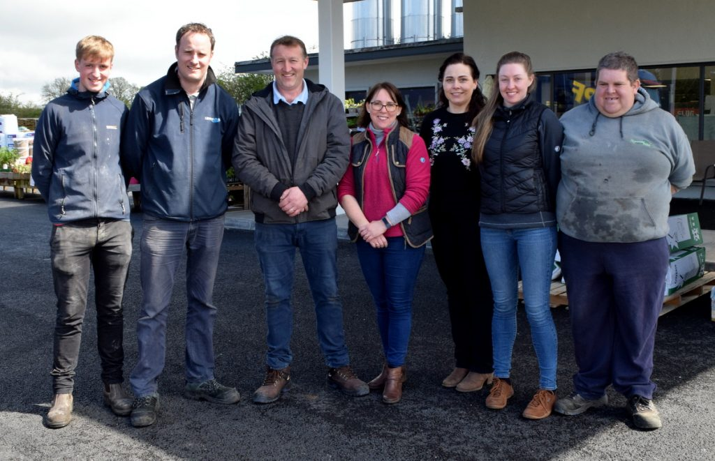 The team at Kilmacow Fuel & Agri Ltd. look forward to welcoming you to the new look store. Pictured L-R are: Damien Aylward, David Maddock, John Walsh, Anne Marie Walsh, Deirdre Foskin, Ruth McGarry and James Upton.  Photos: Joe Cashin