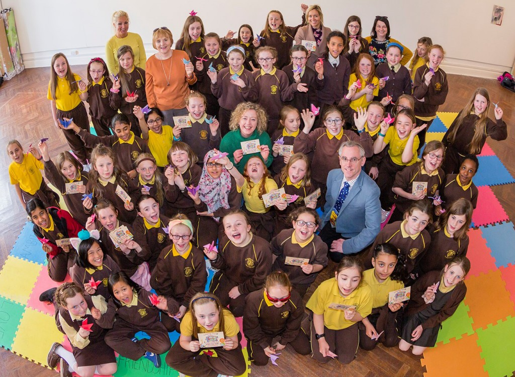 The Garter Lane Arts Centre team, who were joined by the pupils of St John of Gods Primary School for the launch of SprOg 2019 on Thursday last. See Encore 2 for more snaps. | Photos: Mick Wall