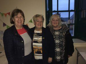 Breda Keane, Ann Troy and Teresa Hennessy pictured in the Barron Hall, Stradbally.