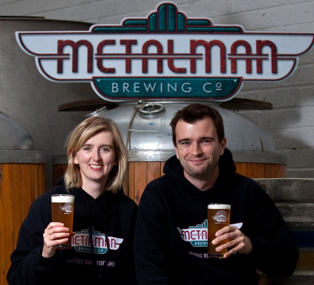 Grainne Walsh and Tim Barber, co-founders of Metalman Brewery