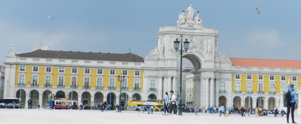 The magnificent Praca Do Comercio in Lisbon.