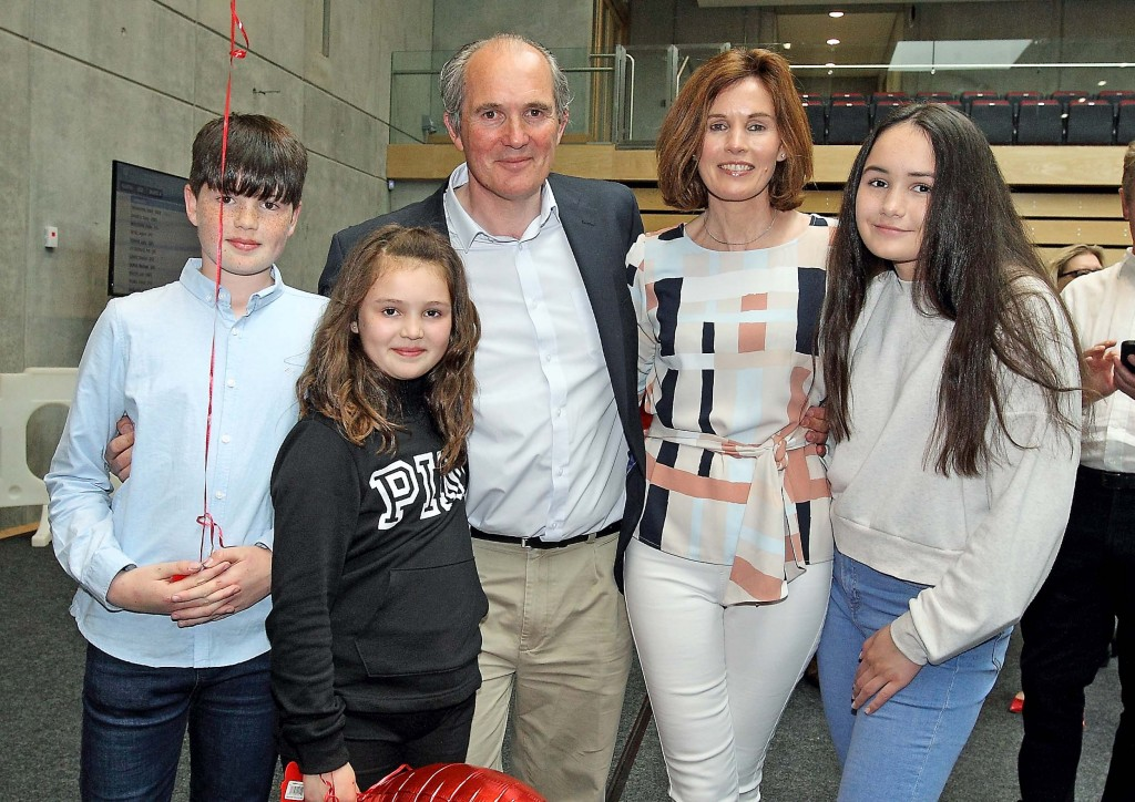 New Councillor Matt Shanahan, pictured with his wife Elaine and children, Emma, Robyn and Tom. | Photo: Noel Browne