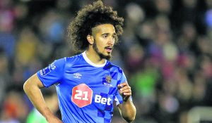 Bastien Hery went close to putting the Blues in front against Finn Harps on 31 minutes