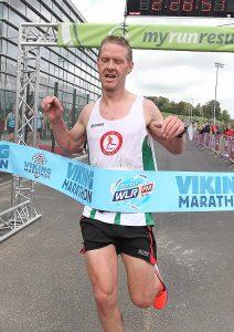 Alexander Wallace, St.Cocas AC wins the 2019 WLR Waterford Viking Marathon.