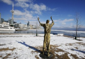 There are many Irish Famine memorials in Canada similar to this one at Ireland Park in Toronto.