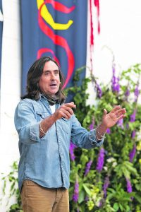 Author and presenter of the TV series 'Coast' Neil Oliver speaking during the seventeenth annual Lismore Immrama Festival of Travel Writing .  Photo: David Clynch