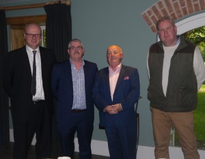 Pictured at the book launch in Woodhouse are Willie Whelan, Waterford County Museum, Ger Crotty, Portlaw Heritage Centre, Cllr Ger Barron and Alan Walsh, Curraghmore Estate