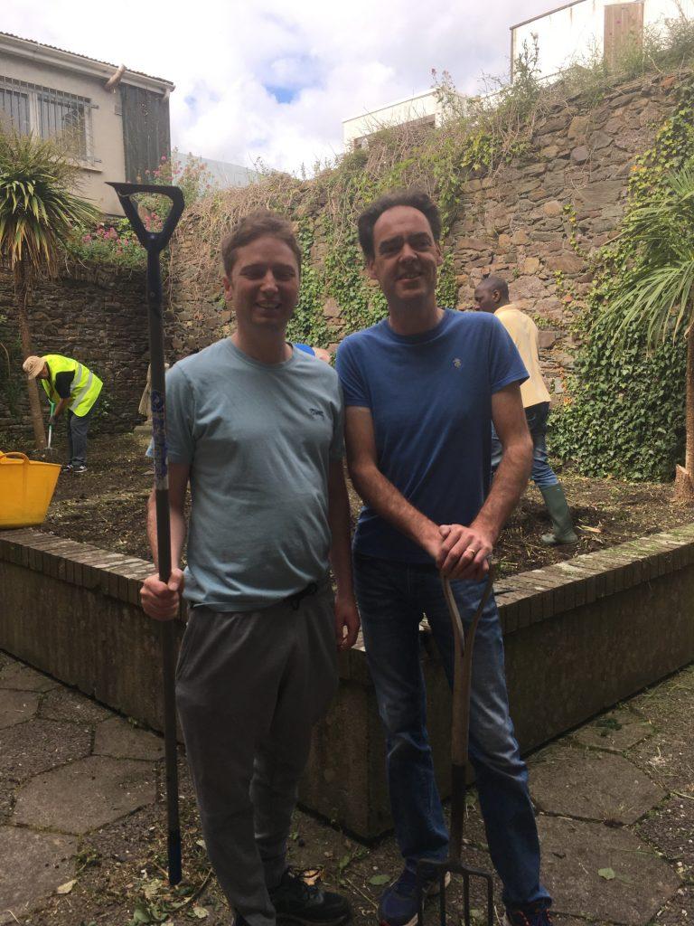 Andrew Power (Waterford Men's Sheds Co-ordinator) and Derek Corcoran (Garter Lane's Community Employment Supervisor).