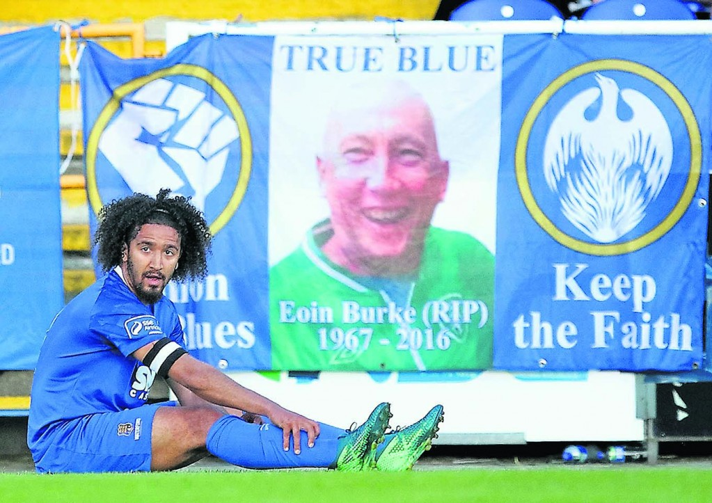 Waterford FC captain, Bastien Hery disconsolate after defeat to St Patrick's Athletic