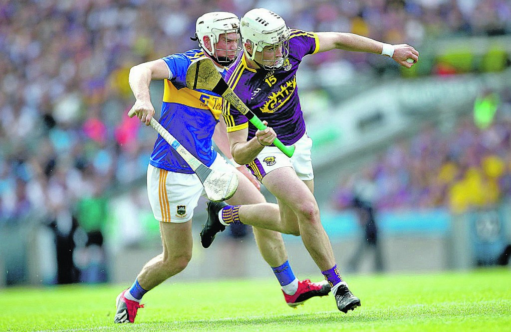 Tipperary's Brendan Maher and Wexford's Rory O'Connor battle it out in the All-Ireland semi-final on July 28th