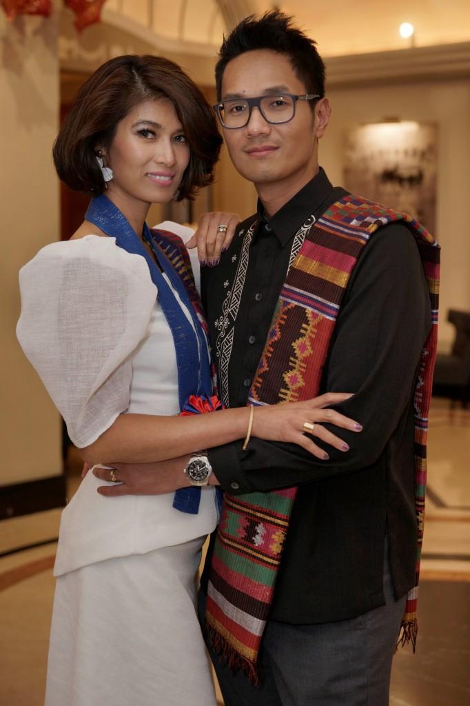 Don Karim and Lora Pangilinan-Kiram wearing Philippine National Costume.