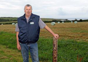 Edmond Phelan pictured on his farm near Fenor.