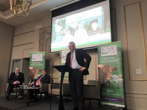Edmond Phelan speaking after being elected President of the ICSA.