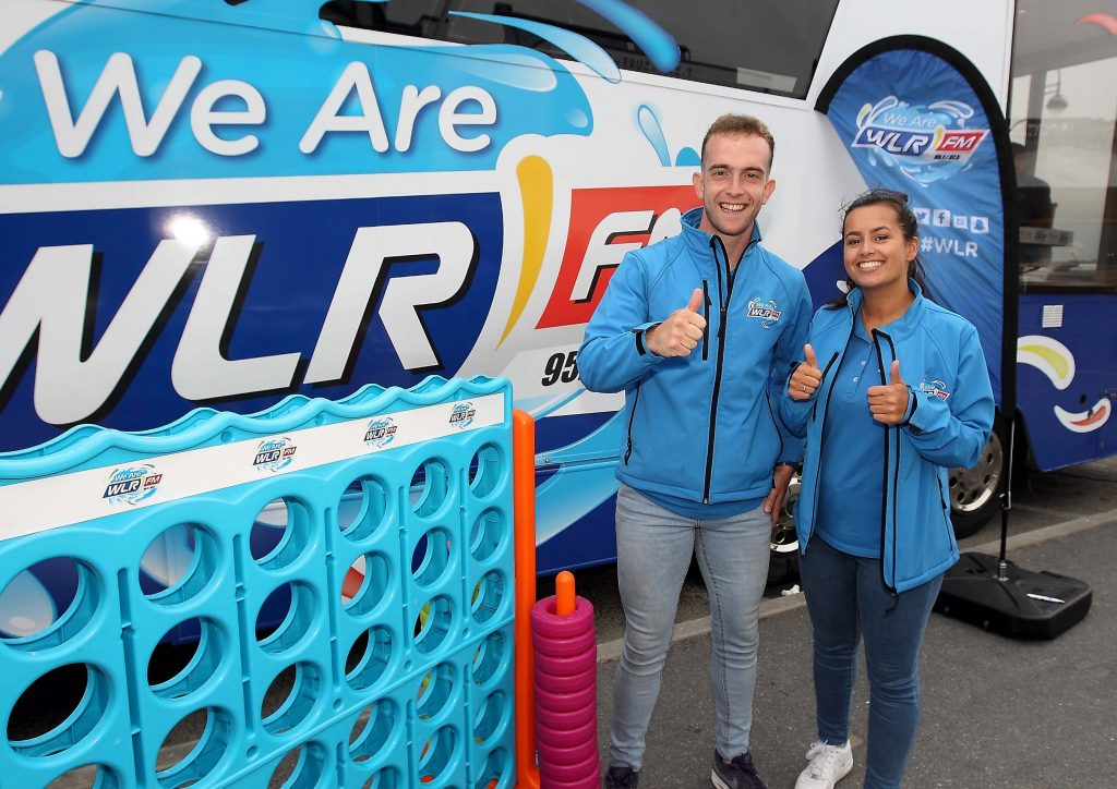 James and Seena from the WLR Street Team at the WLR Broadcaster in Tramore.