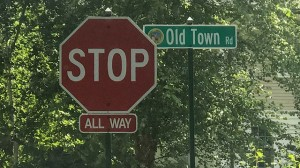 Street signs, such as the one above, have proven popular lately.