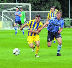 Corey Galvin on the attack for the Blues