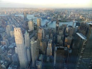 Freedom Tower view of Manhattan